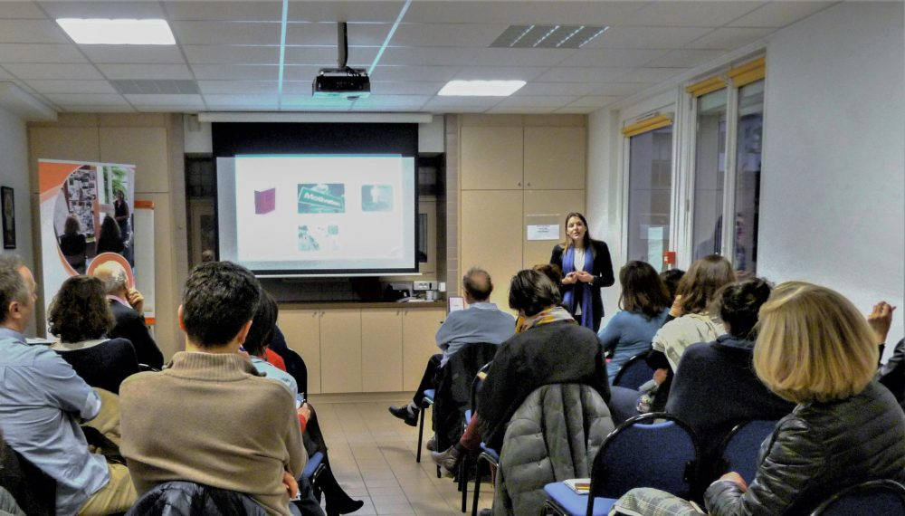 Conférence sur le retour au travail après la maladie orientée pour les entreprises, donnée par Géraldine Magnier en mars 2019 à Paris
